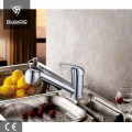 Chrome Finished Hot Cold Mixer Tap With Sprayer