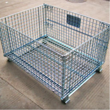 Stacking Collapsible Steel Wire Mesh Pallet Cage