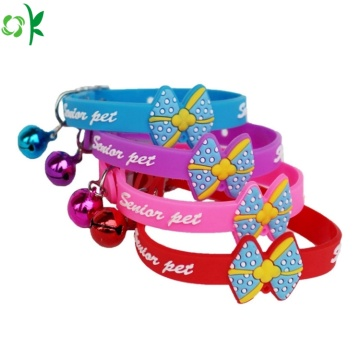 Hot Selling Cute Silicone Pet Collar for Decoration