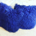 Lush Plush and longhaired mongolian lamb fur pillow caes