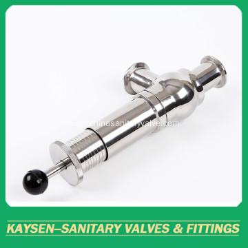 Sanitary manual Clamp Pressure Safety Relief Valve