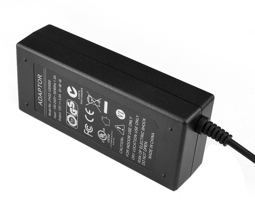 CE,FCC,UL,GS,SAA,C-TICK Certified Desk-Top 9V 3.5A Power Adapter
