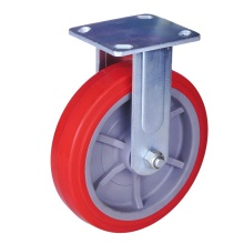 Low Cost for Heavy Duty Caster 4 inch heavy duty rigid caster PU wheel supply to Liberia Supplier