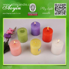 7.5*7.5 Multi-colored Tearless Pillar Candle with Fragrance