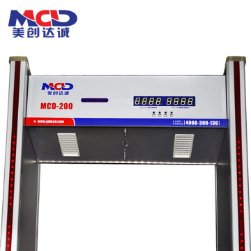 Full-Boby Check Safe Intelligent 2019 Novo Detector de metais passo a passo Gates MCD600