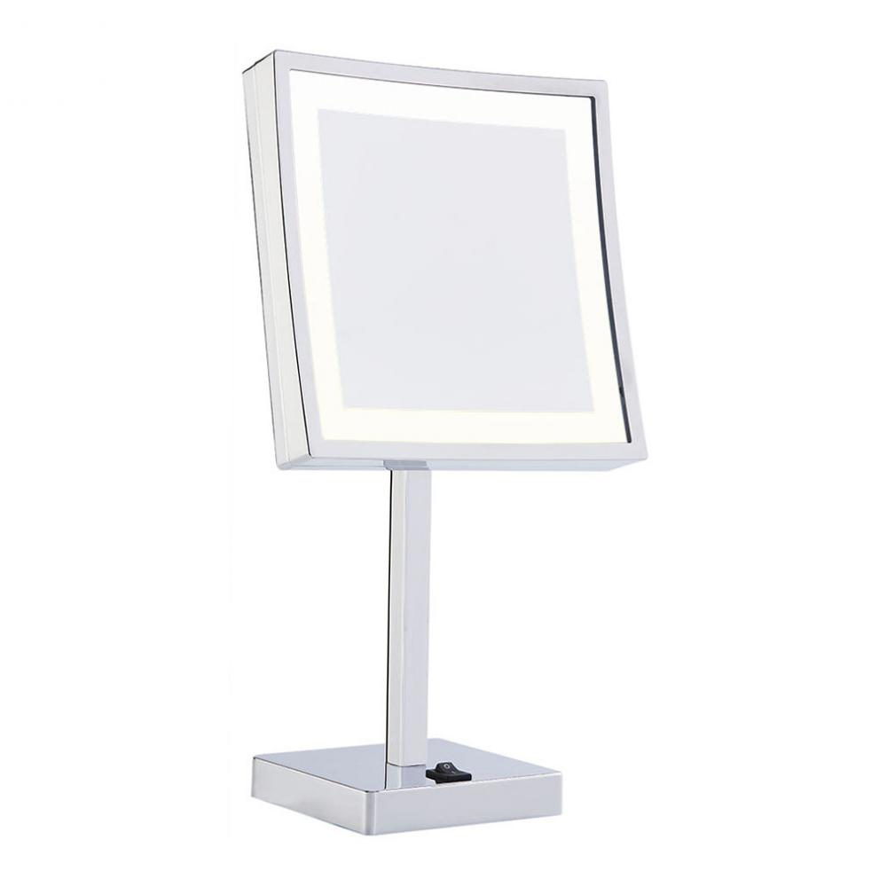 Square vanity table mirror with lights