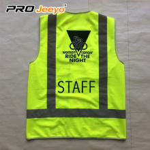 reflective safety vest zipper