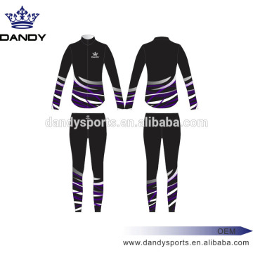 Custom Stripes Black Sublimated Cheer Uniforms