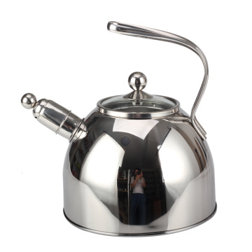 Stainless Steel Hollow Out Handle Design Whistling Kettle