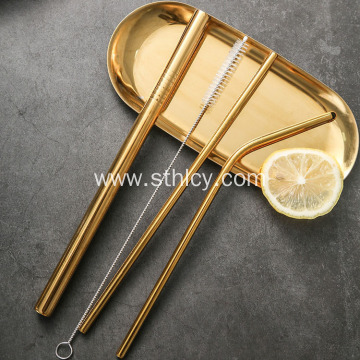Customized 304 21.5 mm Straight Stainless Steel Straw