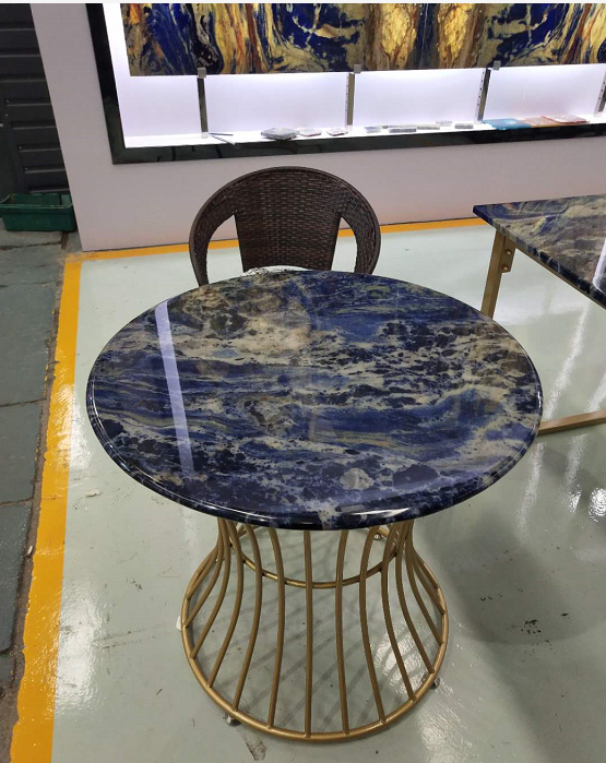 Blue Sodalite Stone Table 1