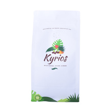 ECO Compostable Flat Bottom Biodegradable Coffee bag