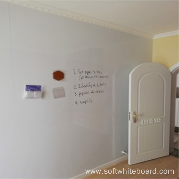 High Gloss Whiteboard Magnetic Wallpaper
