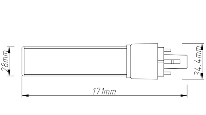 PL-18-10W led tube pl light size
