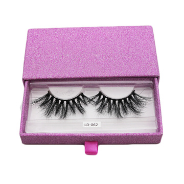 Pink Sliding Eyelash Extensions Beauty Box Empty