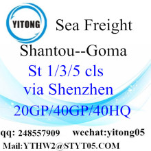 Shantou FCL LCL Container Shipping to Goma