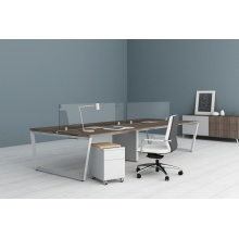 Glass two sided office desk dividers