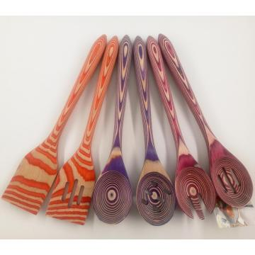 Pakkawood kitchen utensil set