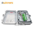 FTTH Wall Mounted 24 Core ABS / PC White Fiber Optic Terminal / Distribution Box