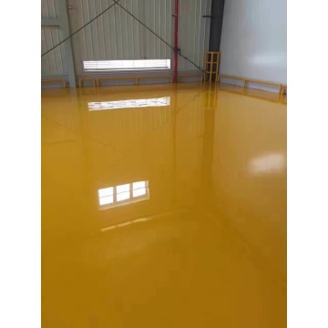 Yellow waterborne epoxy floor paint