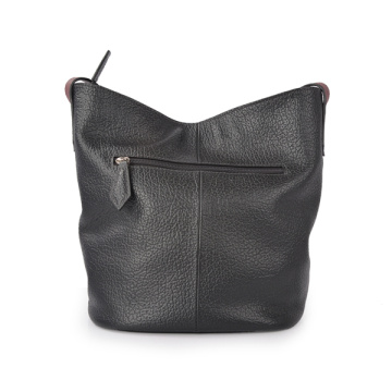 Casual Vegan Leather Medium Convertible Bucket Bag