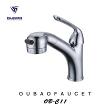 Luxurious 1-Handle Pullout Sprayer Basin Faucet Fpr Bathroom