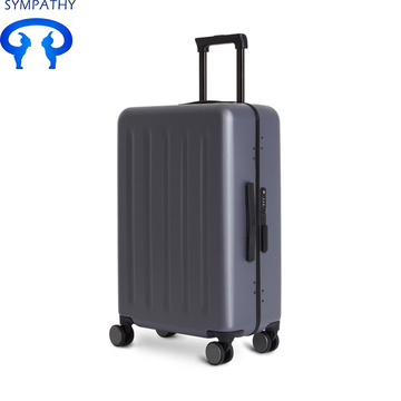 Custom suitcase aluminum frame tie box password suitcase