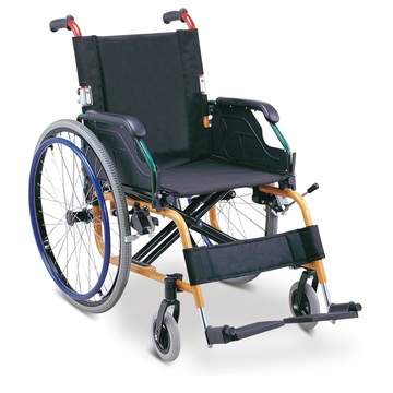 New Designed Lightweight Manual Foldable Aluminum Wheelchair