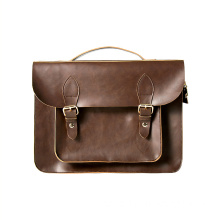 Unisex PU Briefcase Shoulder Messenger Laptop Bag