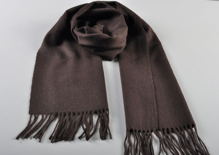 Blank Woven Scarf Brown
