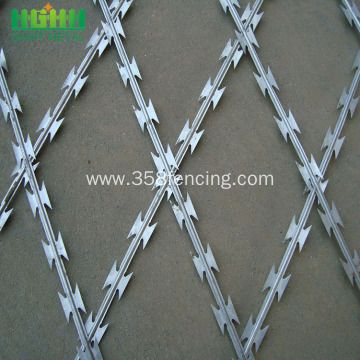 Concertina Fencing Hot Dipped Razor Barbed Wire