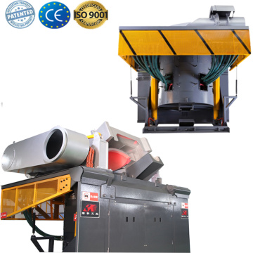 Electric scrap metal induction melting oven