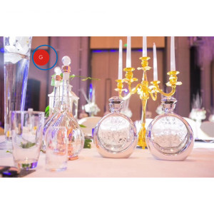 Excellent quality price for Craft Glassware Bottle Swarovski Crystal Glassware Bottle supply to Belgium Supplier