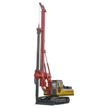 Foundation building earth boring rig machine