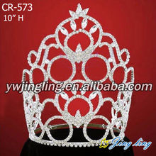 Rhinestone Pageant Crowns Large Size Tiaras