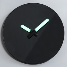 Black Mirror Wall Clock wigh Luminous Hand