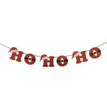 "Christmas party garland with "" HO HO HO"""