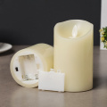 Paraffin wax pillar led candle for wedding decoration