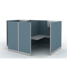 Renewable Design for 4 Seat Office Workstation Cubicle office furniture 2 person workstation supply to Bangladesh Factory