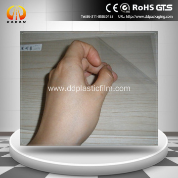 Holographic clear rear projection adhesive film