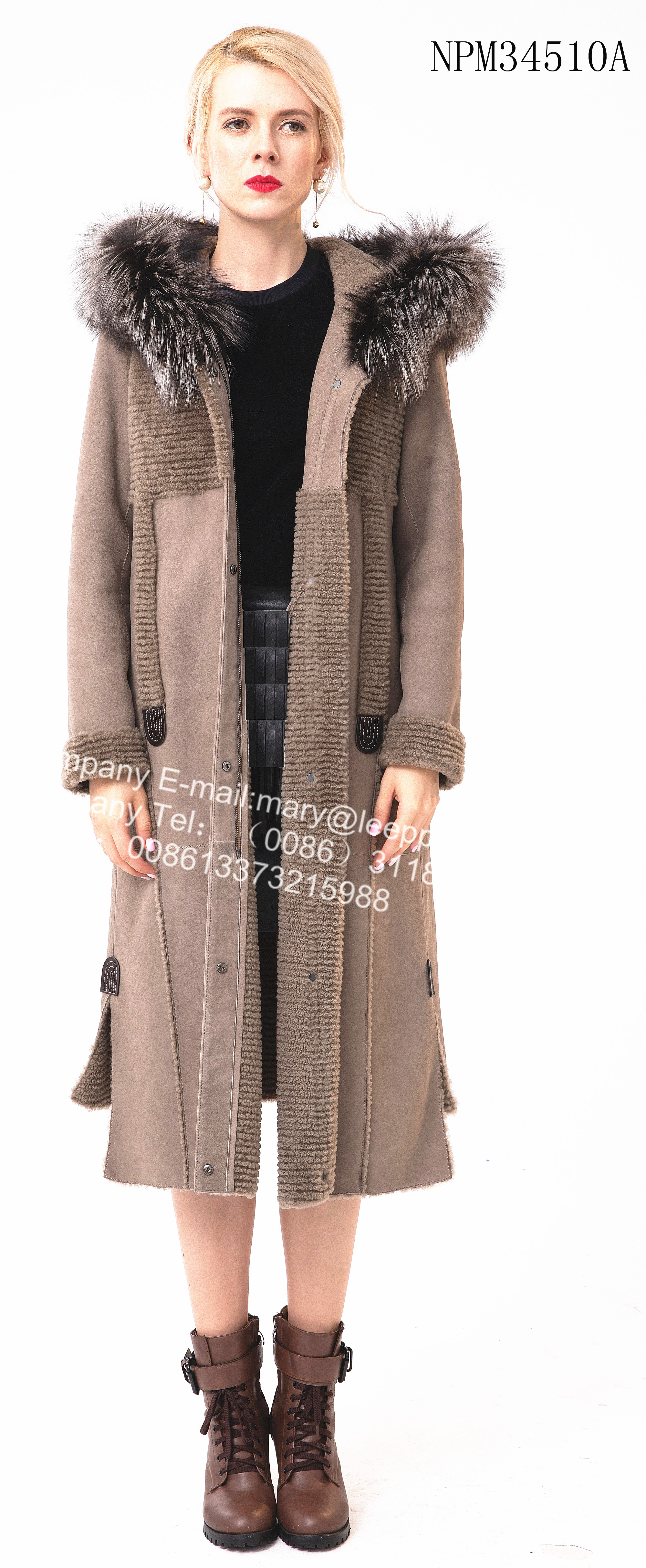 Shorn Sheepskin fur Windproof Coat