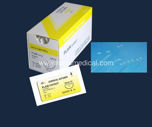 Absorbable Plain Catgut Surgical Sutures With Needle
