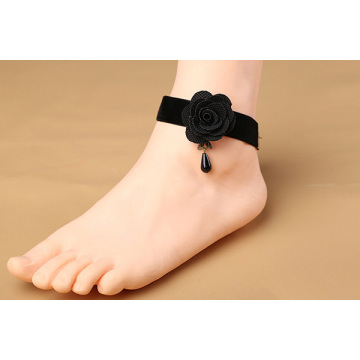 Sexy Black Flower Lace Anklet Wholesale Cheap Ankle Bracelet