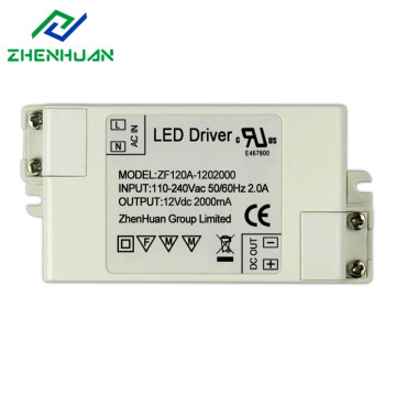 24W UL Certificação Led Driver Power Supply