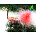 Outdoor Glass Clip-on Flamingo Ornament