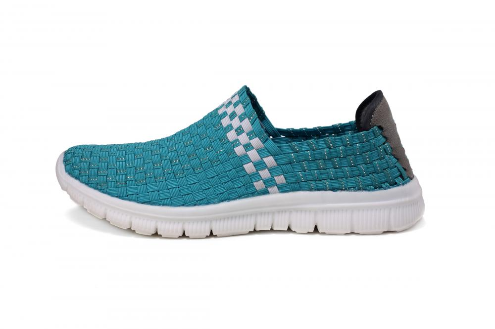 Upturned Toe Design Woven Loafers