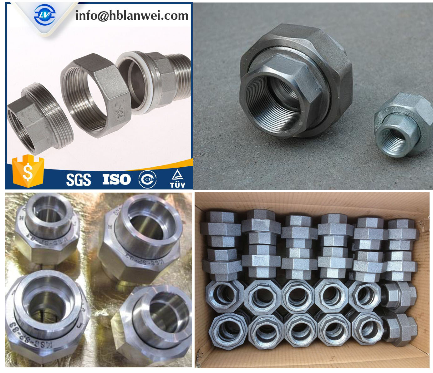 melleable iron pipe fittings union