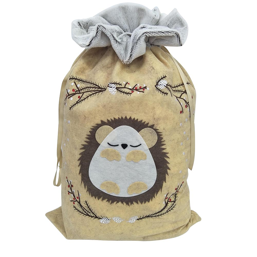 Hedgehog christmas sack(2)