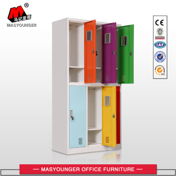 Narrow side cabinet 6 door metal locker