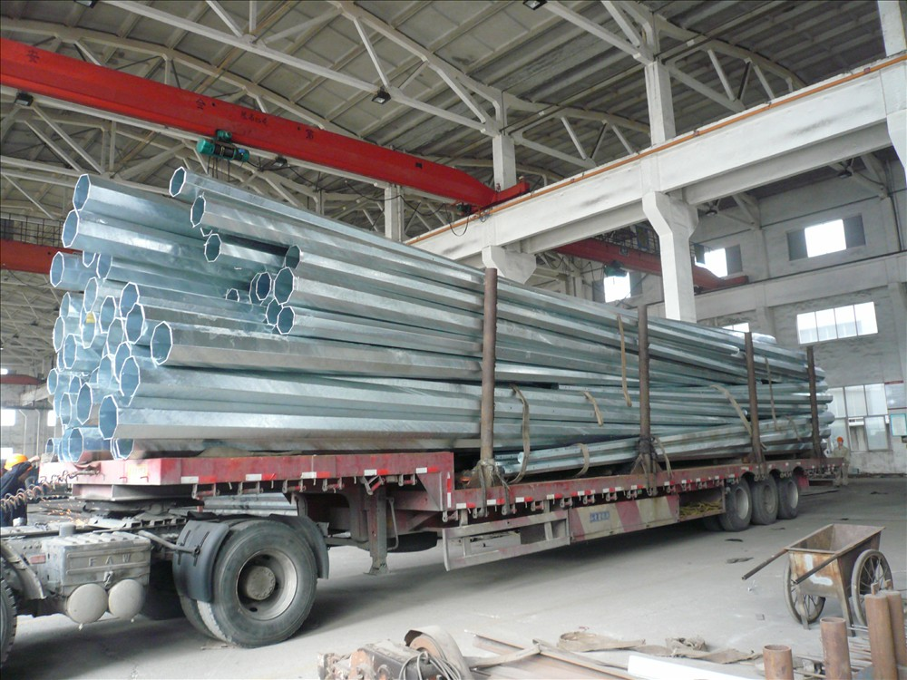 11.9m Steel Power Pole